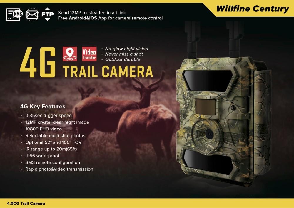 Willfine 4.0CG 4G Trail Camera Wireless Game Camera 1