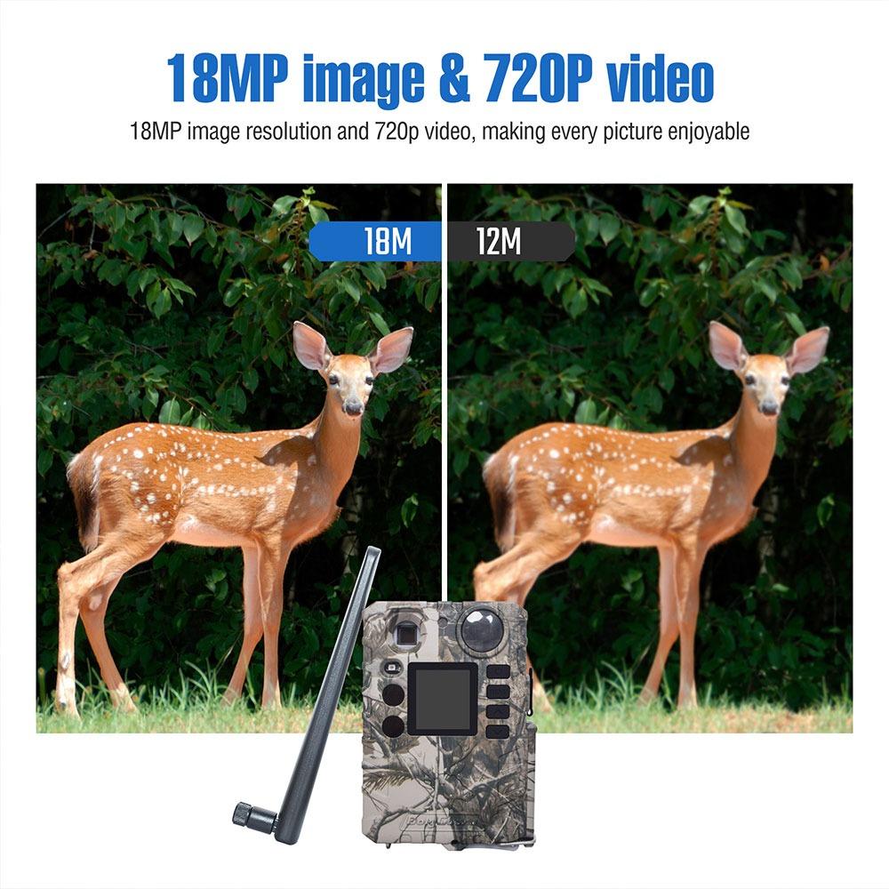 BolyGuard BG310-M 4G Trail Camera 18MP HD Video Wireless Game Camera with Cloud Service 5